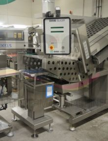 Used Dixie Slicer with a checkweigher from Boekels and an outfeed conveyor 9