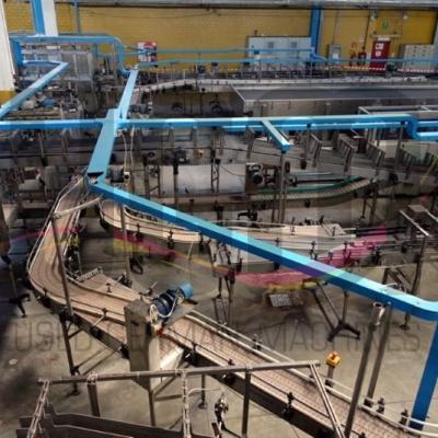 Used complete filling line for glass- and PET bottles / from 18000 to 32000 bph