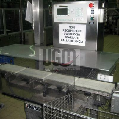 PACKITAL CHECKWEIGHER WITH REJECTOR