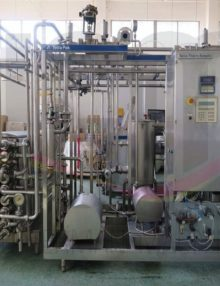USED TUBULAR TETRA PAK® UHT PLANT, INCLUDING HOMOGENIZER 4